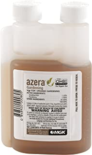 Azera Gardening 8 oz, Botanical Dual Action Azadirachtin/Pyrethrin Fast-Acting Insecticidal Concentrate for Organic Gardening.