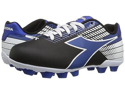 Diadora Kids Ladro MD JR Soccer (Toddler/Little Kid/Big Kid) (Black/Blue/White) Kids Shoes