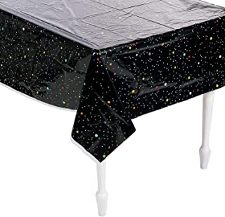 Fun Express - Space Party Stars Table Cover for Birthday - Party Supplies - Table Covers - Print Table Covers - Birthday - 1 Piece