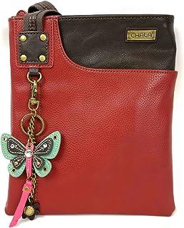 Chala Crossbody Phone Purse   SOFT PU Leather SWING Bag with Detachable Mini Key fob- 609