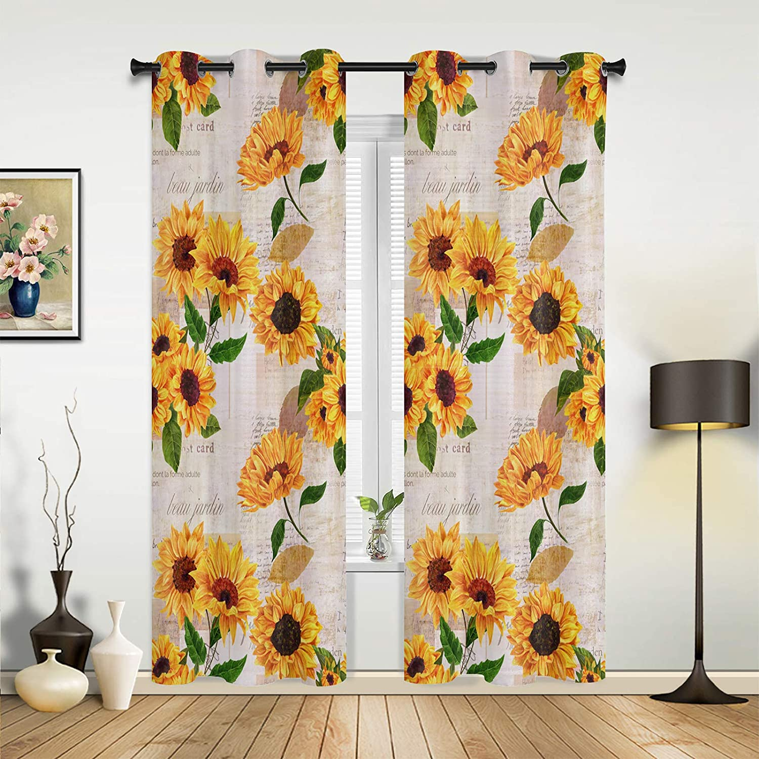 NEW Beauty Decor Window Sheer Curtains Bedroom Room Vinta for Super Special SALE held Living