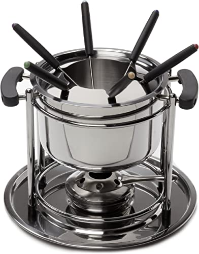 high quality ExcelSteel wholesale 527 Fondue Set, 11 lowest piece, Stainless Steel outlet sale