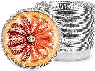 Disposable Pie Tins, Beasea 50 Pack 5 Inch Pie Pans Aluminum Foil Tart Pan Tins Plates Baking Foil Pans for Pies Tart Quiche