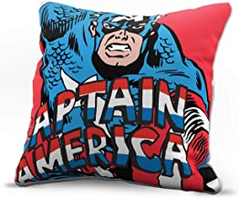 Jay Franco Marvel Avengers American Decorative Pillow Cover - Kids Super Soft 1-Pack Throw Pillow Cover Features Captain America - Measures 15 Inches x 15 Inches (Official Marvel Product)