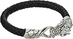 Legends Naga 7.5mm Bracelet in Black Leather
