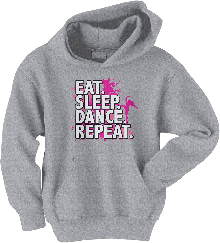Threadrock Big Girls' Eat Department store Sleep Sweats Youth Repeat Soldering Dance Hoodie