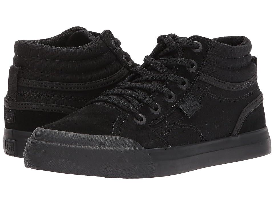 DC Kids Evan Hi (Little Kid/Big Kid) (Black/Black/Black) Boys Shoes