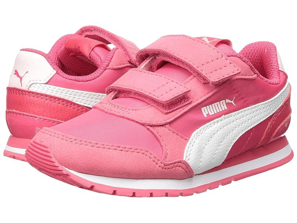 Puma Kids ST Runner v2 NL V (Little Kid) (Paradise Pink/Puma White) Girls Shoes
