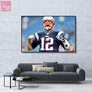 GoGoArt ROLL Canvas Print Wall Art Photo Big Picture Poster Modern (no Framed no Stretched not Oil Painting) Tom Brady Sport NFL Football New England Patriots Super Bowl MVP A-0150-1.5 (40 x 60 inch)
