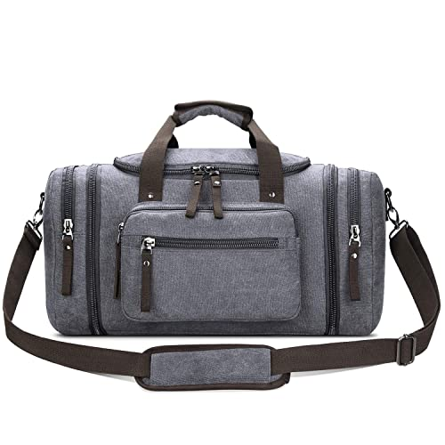 68ac02e4463f Toupons Canvas Duffel Bag Small Carry-on Bag Overnight Bag Weekender Bag  for Men (