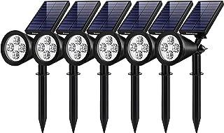 InnoGear Solar Lights Outdoor, Upgraded Waterproof Solar Powered Landscape Spotlights 2-in-1 Wall Light Decorative Lightin...