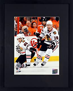 "Chicago Blackhawks Patrick Kane & Jonathan Toews ""Stanley Cup Champs!"" 8x10 Photograph (SGA UnderFifty Series) Framed"