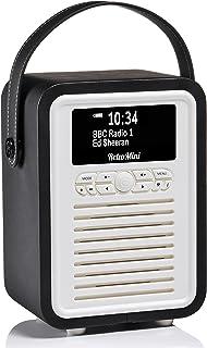 VQ DAB, FM & AM Radio VQ Retro Mini DAB & DAB+ Digital Radio with FM & AM, Bluetooth & Alarm Clock – Black, Black, (VQ MIN...