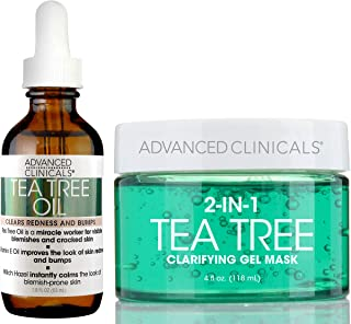 Tea Tree oil Set. Tea Tree Face oil and Tea Tree Oil Mask for pores, dry skin, redness for smooth, clear skin. 50ml face o...