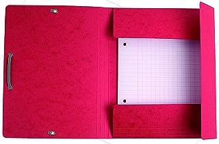 Chemise a elastique 3 rabats carte lustree 400gm nature future - format scolaire 17x22cm