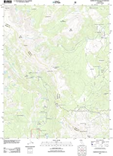 California Maps - 2012 Mammoth Mountain, CA USGS Historical Topographic Map - Cartography Wall Art - 35in x 44in