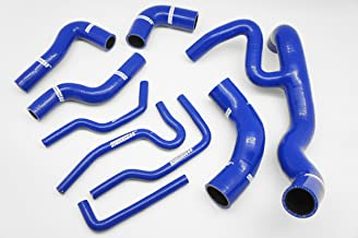 Autobahn88 Radiator Coolant & Heater Silicone Hose Kit fits for 1999-2003 Volkswagen VW Golf MK4 VR6 12V (Blue -without Clamp Set)