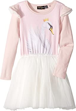 Swan Lake Long Sleeve Circus Dress (Toddler/Little Kids/Big Kids)