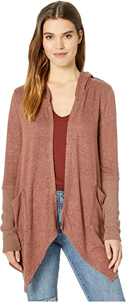 Thriving Hooded Drape Cardigan