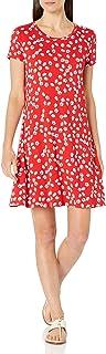 Amazon Essentials Women`s Short Sleeve Scoopneck A-line Dress