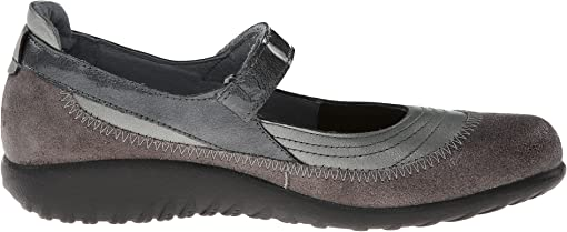 Sterling Leather/Gray Shimmer Leather/Gray Patent Leather