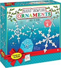 Creativity for Kids Beaded Snowflake Ornaments - Create 6 Christmas Tree Ornaments (New Packaging)