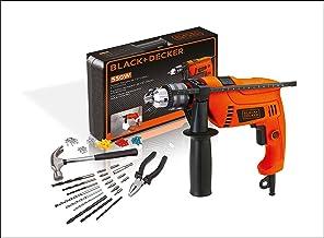 BLACK+DECKER Furadeira de Impacto de 1/2 Pol. (13mm) 550W 2.800 RPM com 82 Acessórios e Maleta 110V HD555K
