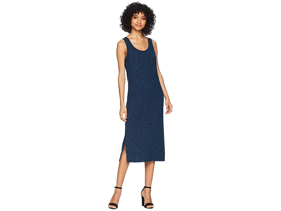 kensie Two-Tone Rib Knit Dress KS5K8198 (Cobalt Sea Combo) Women