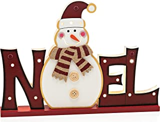 Zilo Novelties Rustic Christmas Decorations Noel Sign Light Up (red)