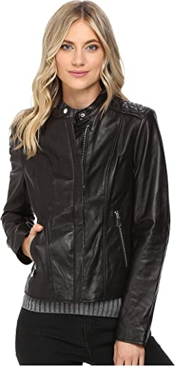 Marc New York by Andrew Marc Liv Leather Moto Jacket