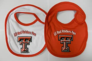 Texas Tech Red Raiders NCAA Baby Bibs 2 Pack