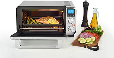 De'Longhi Livenza Compact Oven, 1800W Countertop Convection Toaster Oven, 9 Presets Roast, Broil, Bake, Easy to Use, 14L (.5 cu ft).Stainless Steel, EO141150M