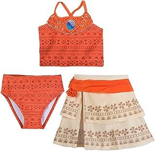 I Am Moana 3-Piece Deluxe Swimsuit for Girls Orange