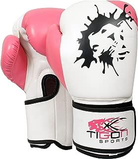 Tigon Sports Ladies Boxing Gloves Fight Punch Bag MMA Muay Thai Grappling Pads Kickboxing