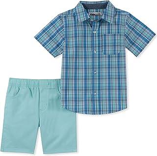 Kids Headquarters 2-Pc 12 Months Rescue-Print T-Shirt /& Plaid Cargo Shorts Set