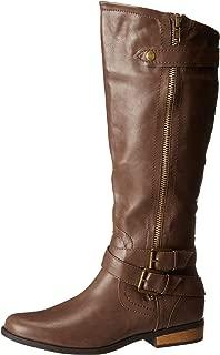 Women's Hansel Zipper and Buckle Knee-High Riding Boot