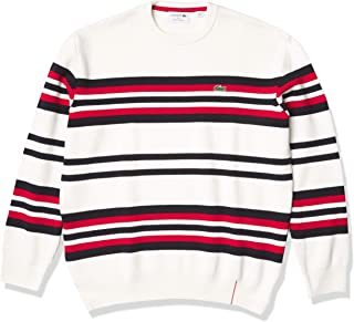 Men's Long Sleeve Made in France Striped Crewneck Sweater