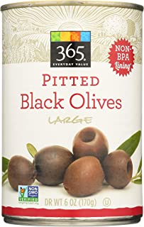365 Everyday Value, Pitted Black Olives, Large, 6 oz