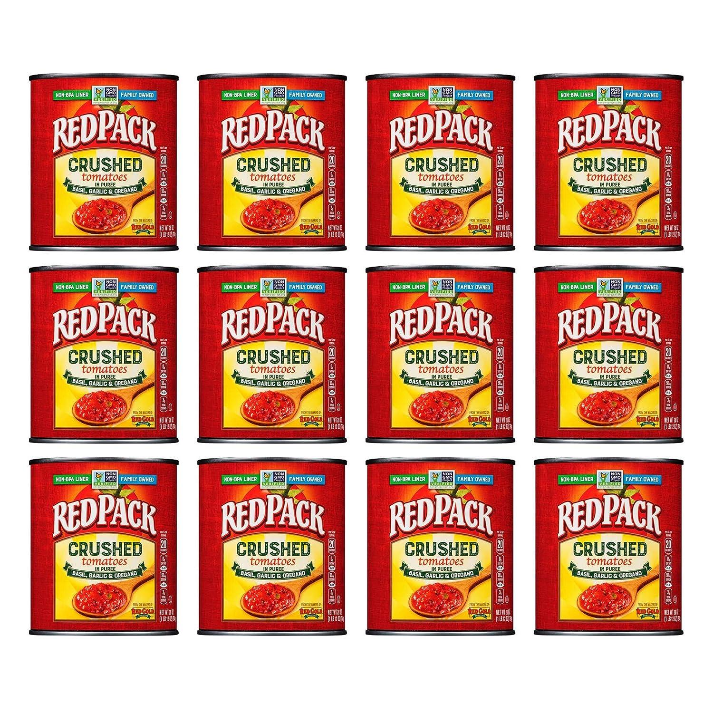 Redpack Crushed Tomatoes 100% quality warranty High order in Puree Garlic Basil Oregano 28oz
