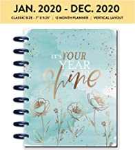 me & my BIG ideas The Happy Planner - Year to Shine Theme - January 2020 to December 2020 - Vertical Layout - Weekly & Monthly Disc-Bound Pages - Scrapbook - Classic Size