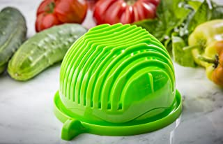 The ORIGINAL 60 Second Salad Maker - Thick, Durable, BPA Free Material - Dishwasher Safe - Top Quality Finish - Funded on Kickstarter!