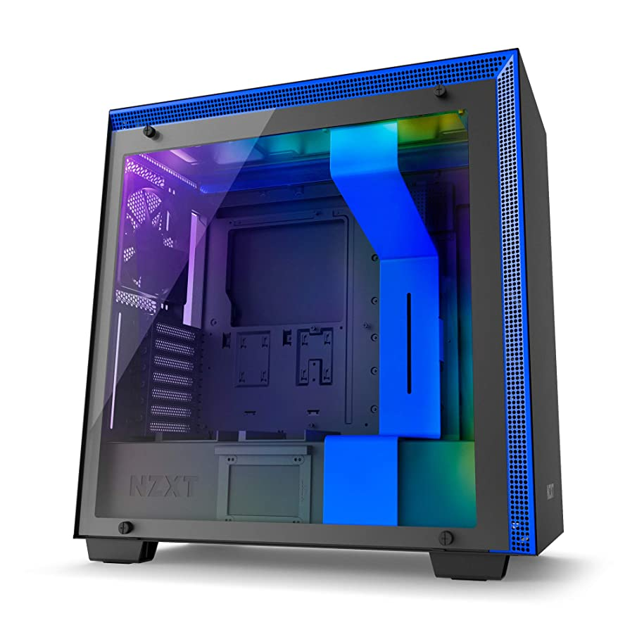 NZXT H700i Midi Tower Gaming Case - Black/Blue