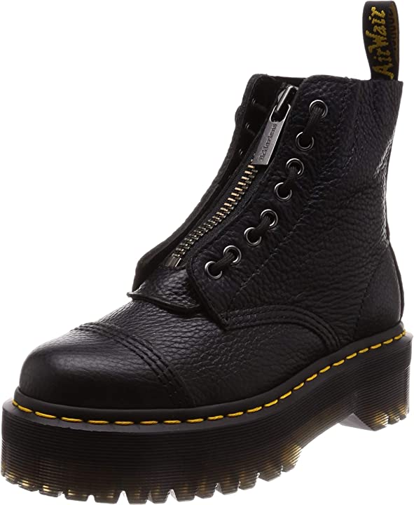 Stivaletti donna in pelle nera dr.martens womens sinclair leather boots 22564001