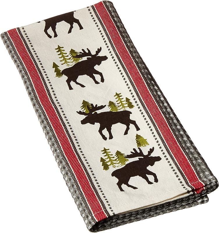 Kay Dee Designs Simple Living Moose Printed Woven Tea Towel