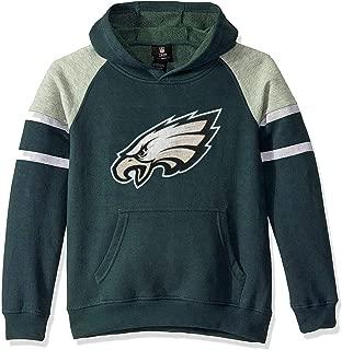 Outerstuff NFL Boys Youth 8-20 Team Color Primary Logo Linebacker 2.0 Raglan Pullover Fleece Hoodie Sweatshirt