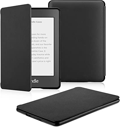 PUBAMALL Funda para Kindle Paperwhite (10.ª generación - Modelo de 2018), con la función Auto Sleep Wake,para Kindle Paperwhite 10th Gen 2018 Released (Negro)