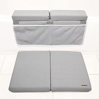 Bath Kneeler and Elbow Rest Pad for Tub Bathing Extra Large Padded Kneeler Mat for Comfort 4 Deep Large Mesh Pockets Batht...