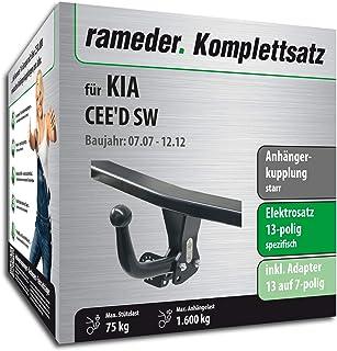114335-05626-1 Rameder Komplettsatz Anh/ängerkupplung starr 13pol Elektrik f/ür KIA CEED Schr/ägheck