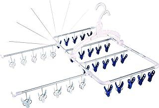 aisen ウイング アルミ 風通しハンガー 30P バーが伸びて素早く乾く LS001 シルバー