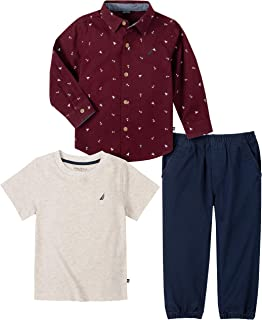 NAUTICA Sets (KHQ) Baby Boys' 3 Pieces Shirt/Tshirt Pants Set